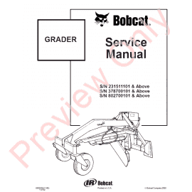 Bobcat Grader 96, 108 PDF Service Manual Download