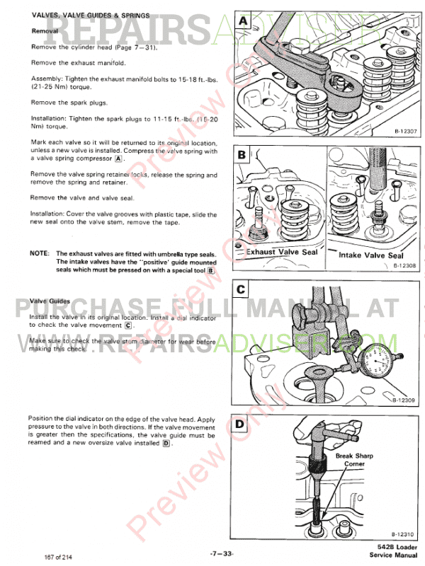 Bobcat Loader 542B Service Manual PDF Download