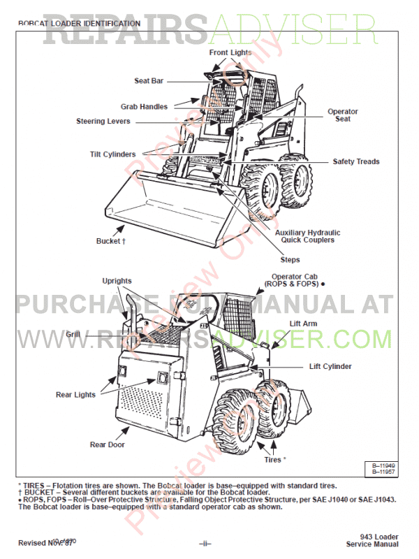 Bobcat 943 Loader Service Manual PDF Download
