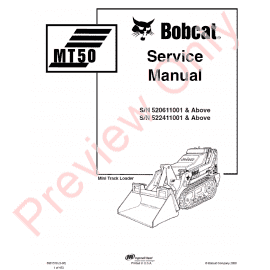Bobcat MT50 Mini Track Loader Parts Manual PDF Download