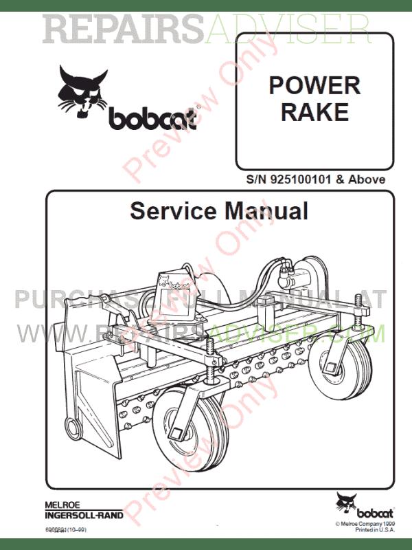 Bobcat Power Rake PDF Service Manual Download