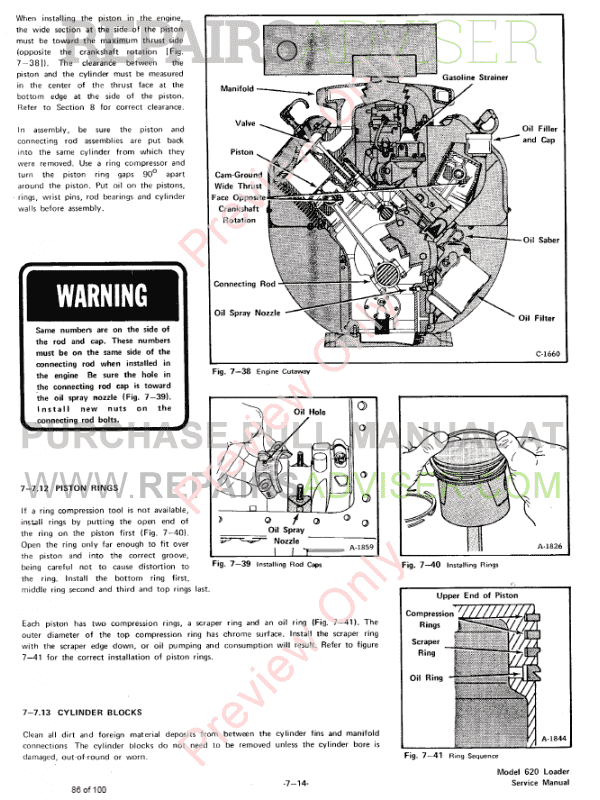 Bobcat Skid Steer Loader 620 Service Manual PDF Download