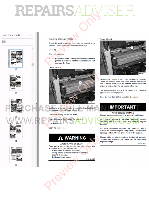 Bobcat Skid Steer Loader S70 Service Manual PDF Download