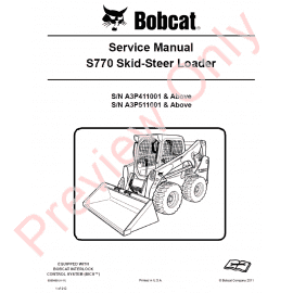 Bobcat Skid Steer Loader 642B Service Manual PDF Download