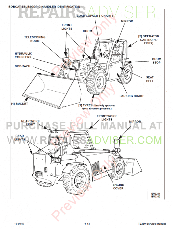 Bobcat 743b Parts Diagram Pdf. Wiring. Wiring Diagram Images