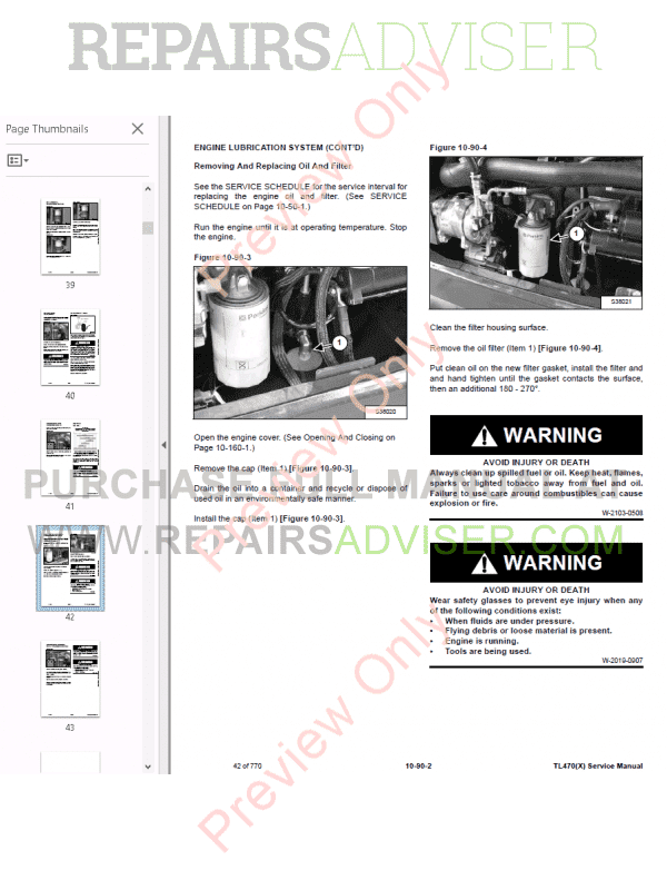 Bobcat Telescopic Handler TL470X Service Manual PDF