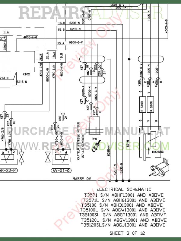 Bobcat Telescopic Handlers T3571, T3571L Service Manual
