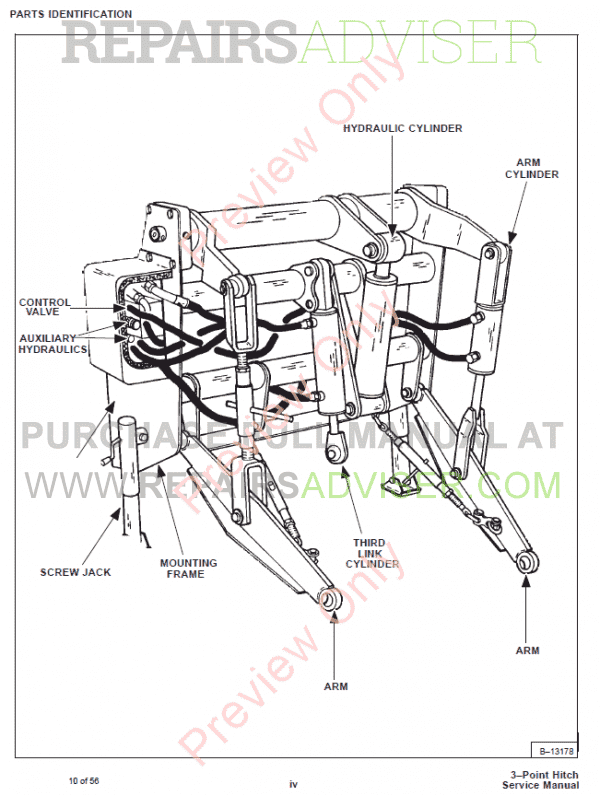 Bobcat Three Point Hitch PDF Service Manual