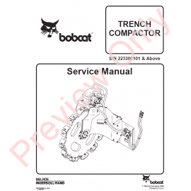 Bobcat Track Loader T190 Service Manual PDF Download