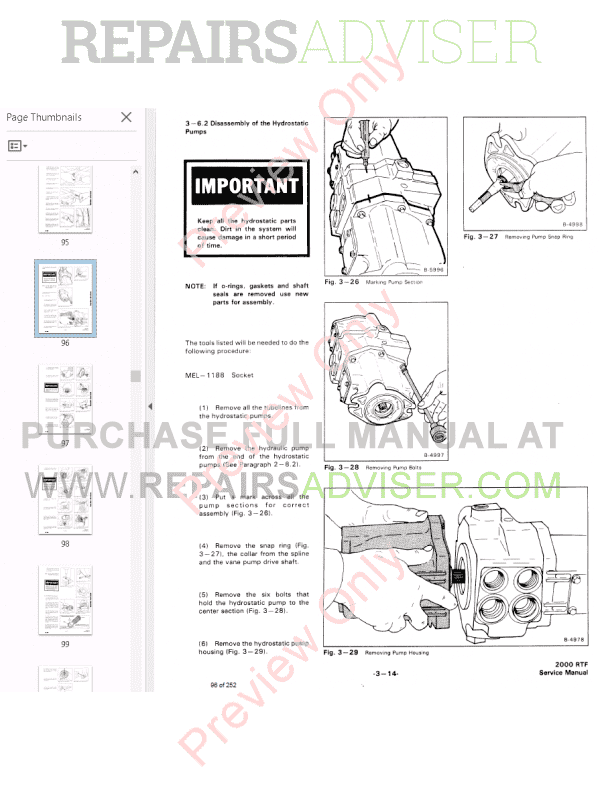 Bobcat Wheel Loader 2000 RTF Service Manual PDF Download