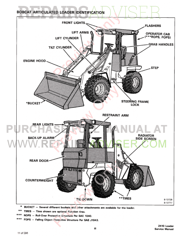 Bobcat Wheel Loader 2410 Service Manual PDF Download