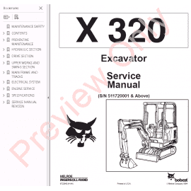 Bobcat 331, 331E, 334 Excavators G-Series Service Manual