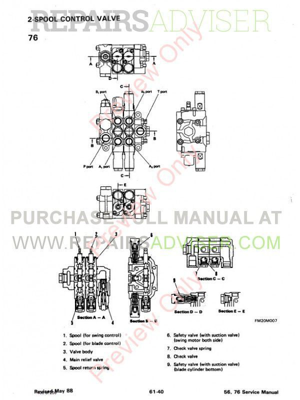 Bobcat X 56, 76 Excavator Service Manual PDF Download
