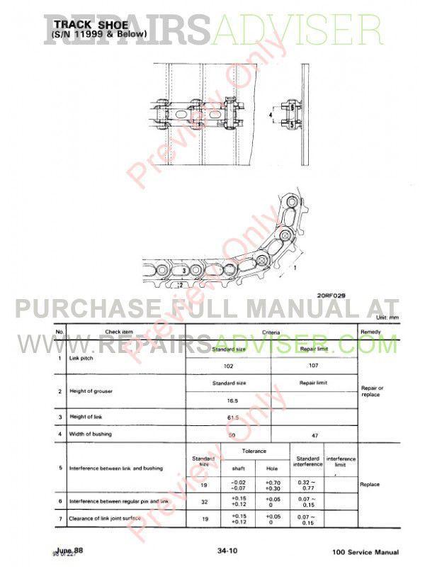 Bobcat X 100 Excavator Service Manual PDF Download