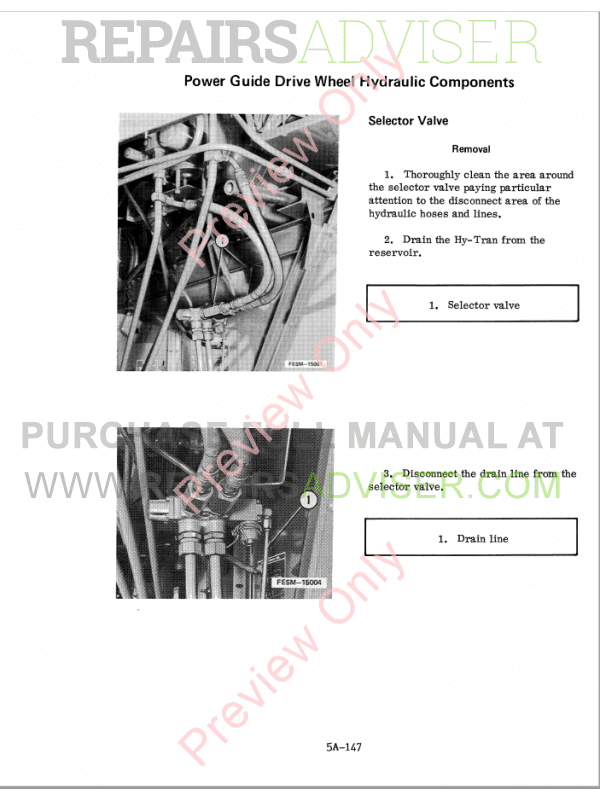 Case 1440/1460/1480 Combine Chassis Service PDF Manual