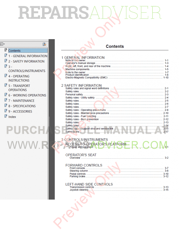 Download Case 621F 721F Loader Service Operators Manuals
