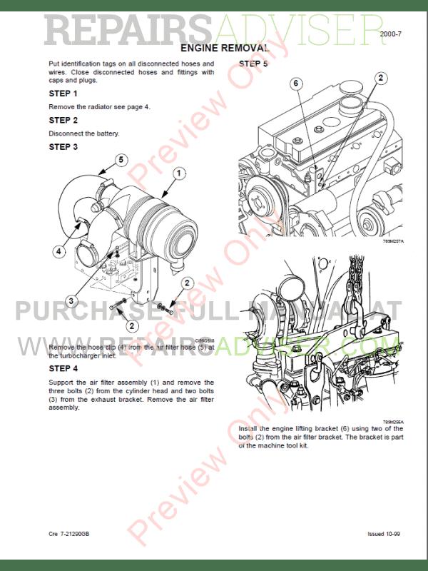 Case 750, 760, 860, 960, 965 Loader Backhoe Service Manual