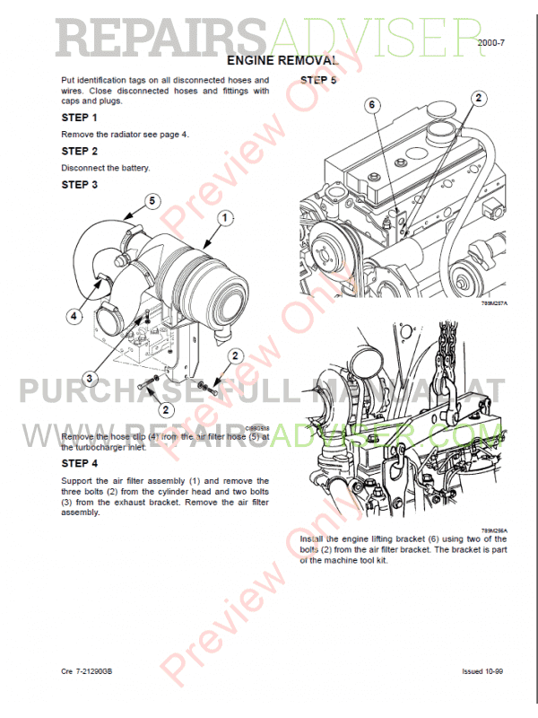 Case 750, 760, 860, 960, 965 Loader Backhoe Service Manual