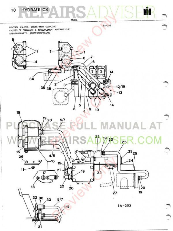 Case 856XL Tractor Parts Book PDF Download