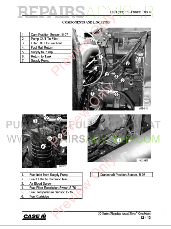 Case 7230-9230 Series Combine Training Manual PDF Download