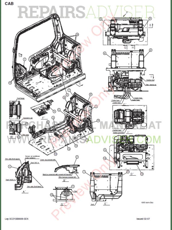 Case CX210B-CX230B-CX240B Crawler Excavators Service