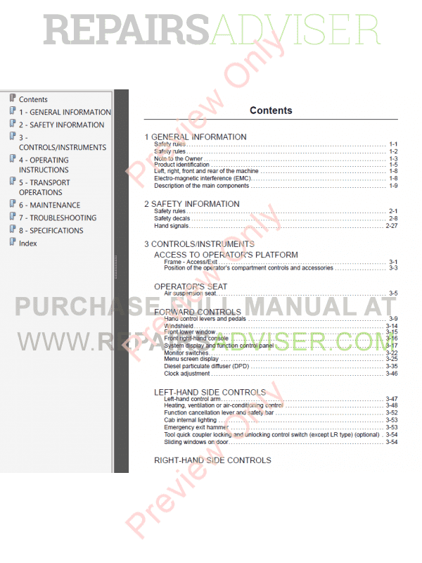 Case CX210C Tier 4 Crawler Excavator Operators Manual PDF