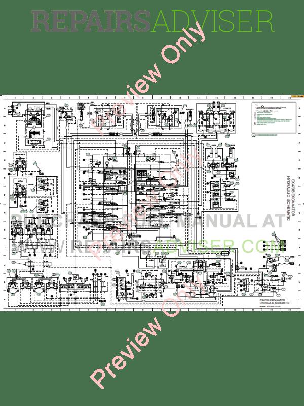 Case CX470B Crawler Excavator Service Manual PDF Download