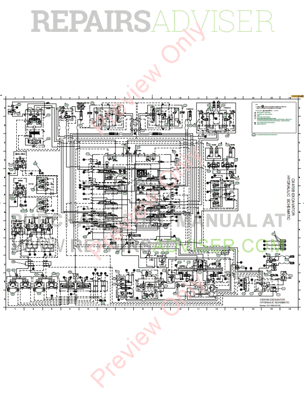 Case CX470B Crawler Excavator Service Manual PDF Download