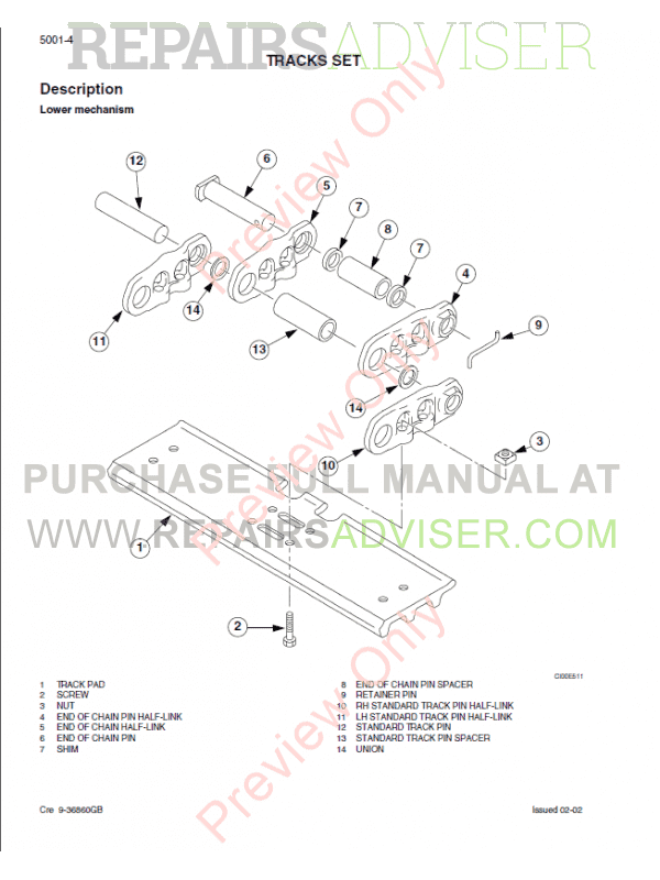 Case CX700 Crawler Excavator Service Manual PDF Download