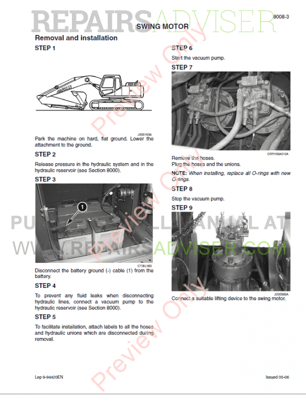 Case CX800 Tier 3 Crawler Excavator Service Manual PDF