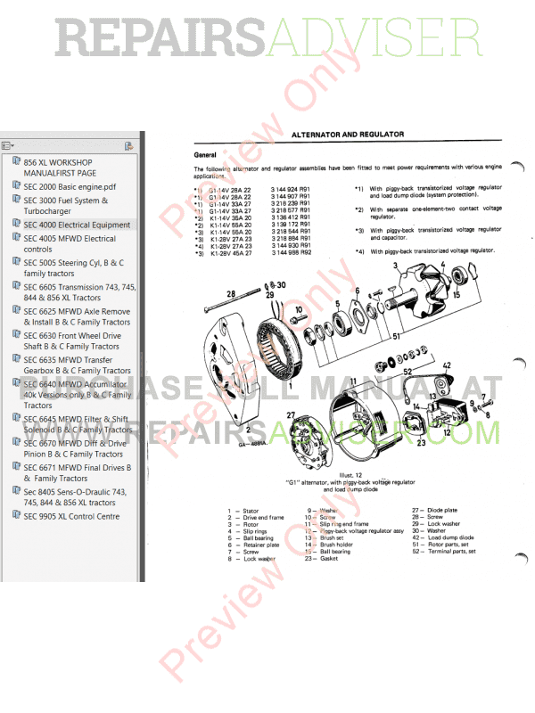 Case IH 856XL Workshop Manual PDF Download