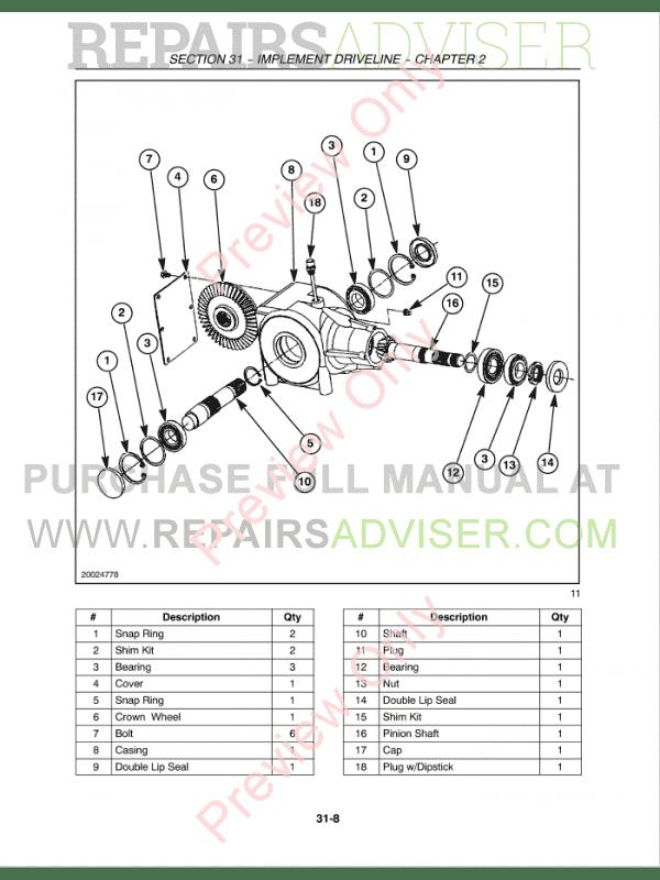 Case RB564, RB464, RB554, RB564 Round Balers PDF Service