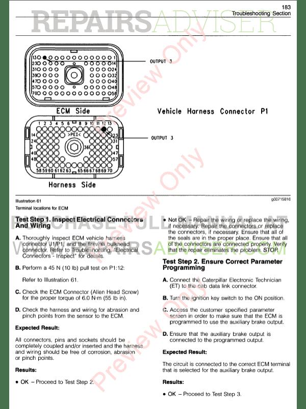 3406e jake brake wiring diagram opel vectra b radio cat c10 ecm schematic 3406