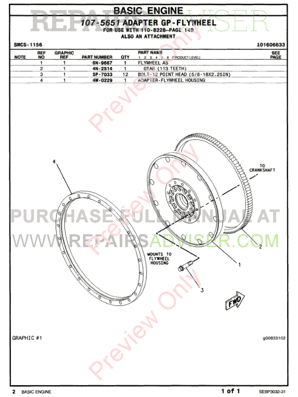 Caterpillar C-15 Truck Engine Parts Manual PDF Download