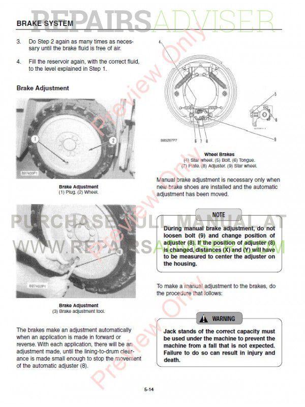 Caterpillar M70D M80D M100D M120D Forklifts Service Manual