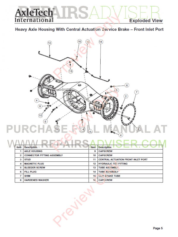 Challenger Terra Gator 3244 Chassis Service Manual PDF