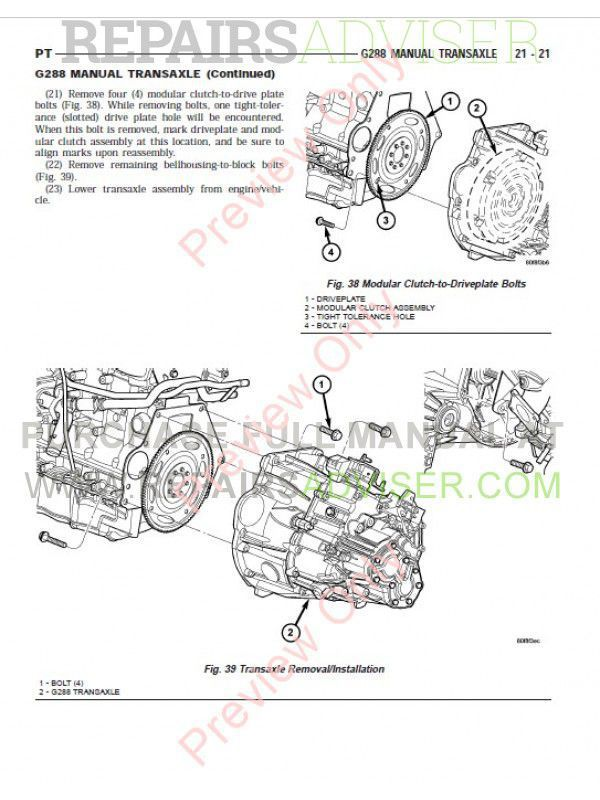 Chrysler PT Cruiser Service Manual 2001-2005 PDF Download