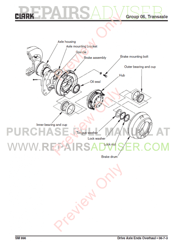Clark Forklift C20-35 D/L/G,C20-32C L/G Service Manual PDF