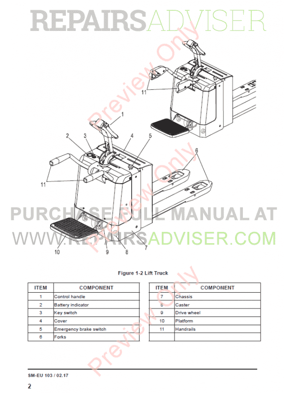 Clark Electric Pallet Truck PPX20 Service Manual PDF