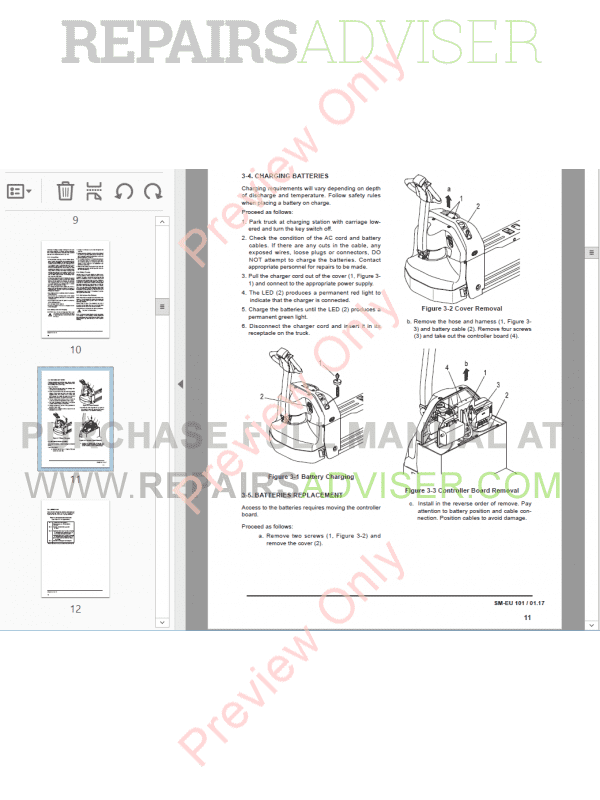 Clark Electric Pallet Truck WPX 18 Service Manual PDF