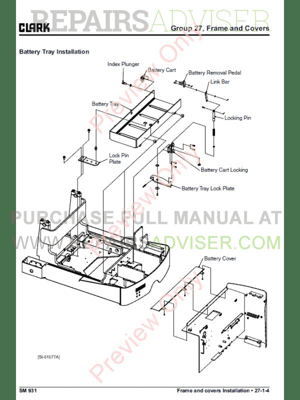 Clark forklift SRX 14/16 Service Manual PDF