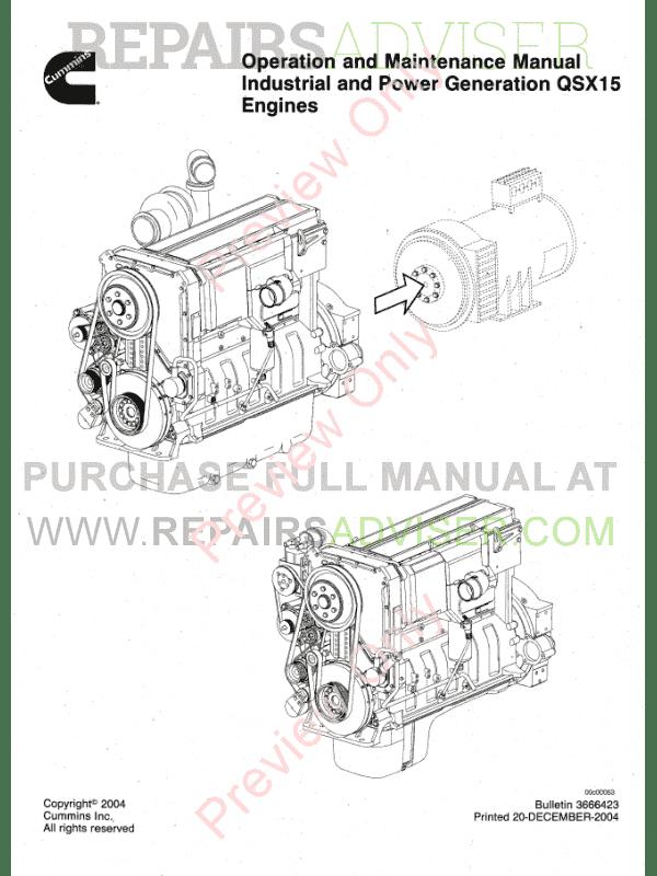 Cummins Engine QSX15 PDF Industrial Generation Operation