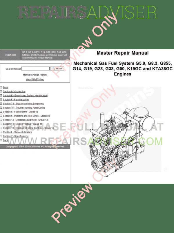 CUMMINS ENGINE V28 G28 SERVICE WORKSHOP REPAIR SHOP MANUAL