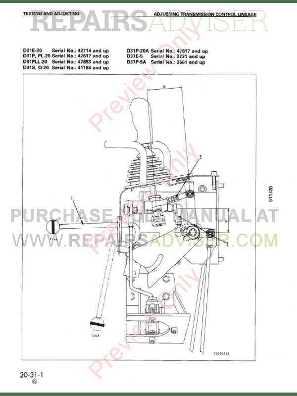 \Komatsu D31E/PL/PLL/S/Q20/20A, D37E/P5/5A Bulldozer Shop