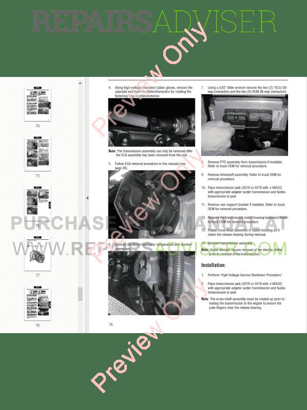 DAF Eaton Transmission FS series Set of Service Manuals