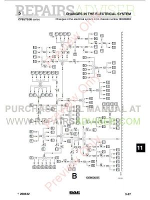 DAF Truck CF65 CF75 CF85 Wiring Diagram Manual PDF Download