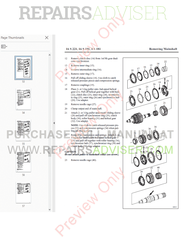 DAF ZF-Ecosplit 3 and ZF 181/221 series Components Manuals PDF