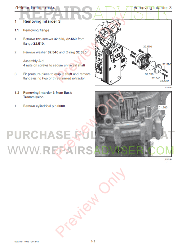DAF ZF-Intarder EST 52 PDF Components Manual