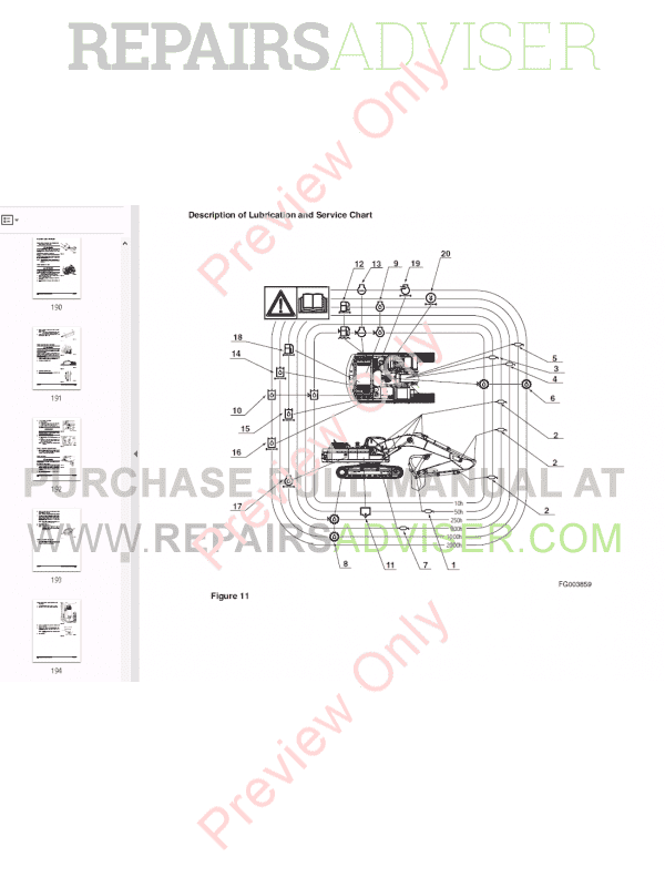 DOOSAN DAEWOO DX340LC Track Excavator Set of PDF Manuals
