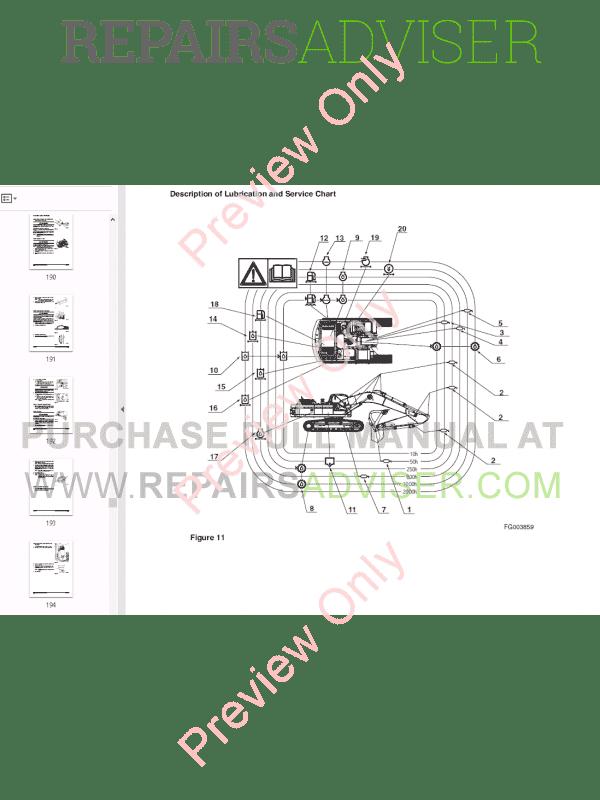 DOOSAN DAEWOO DX340LC Track Excavator Set of PDF Manuals